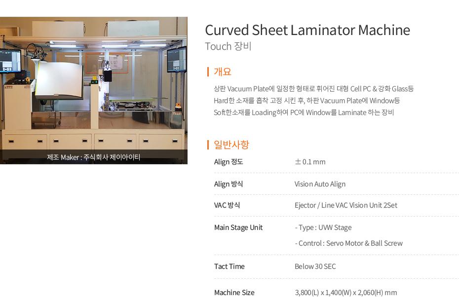 Curved Sheet Lamnianator Machine